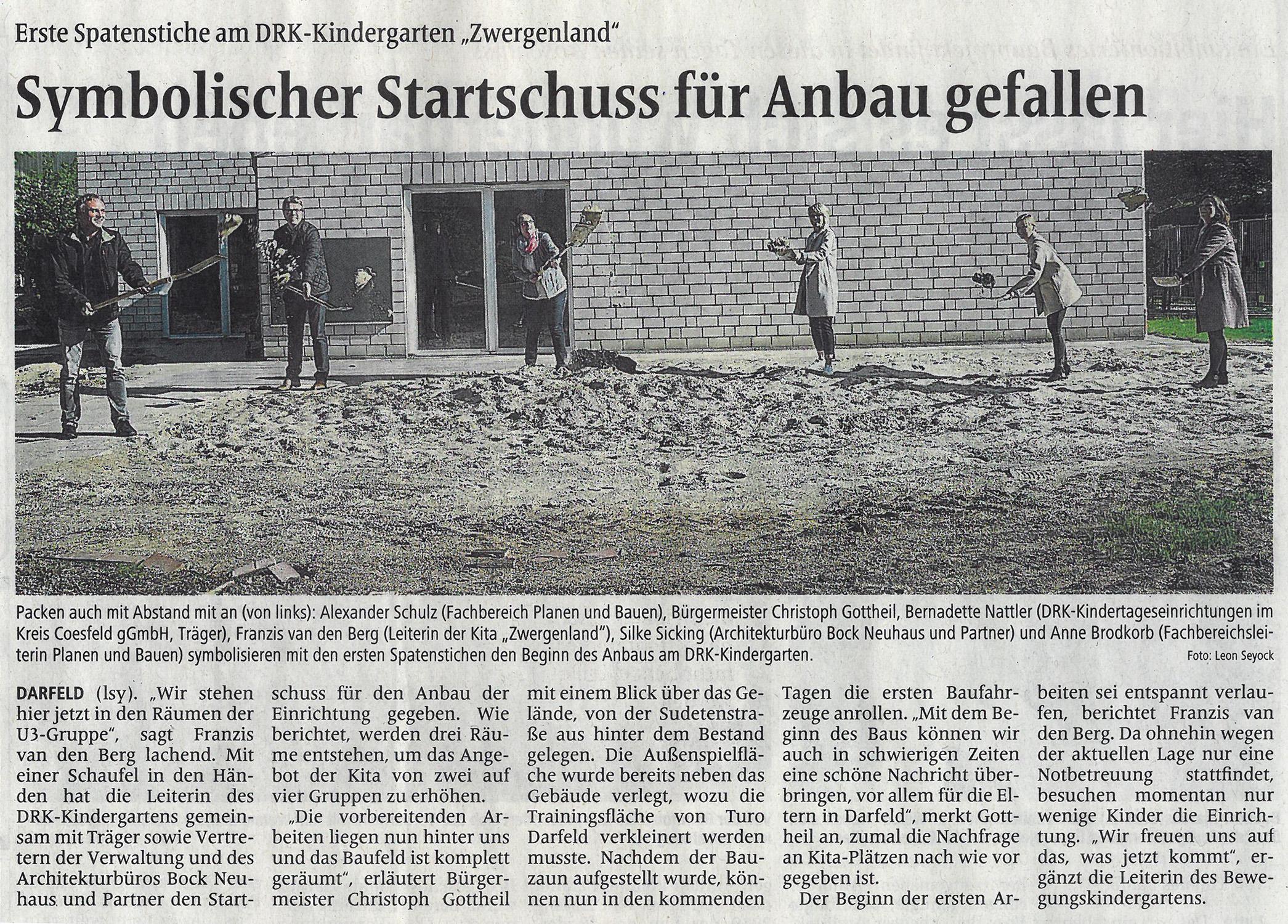Zeitungsartikel AZ 07052020 Spatenstich